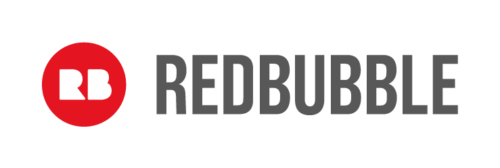 A banner of the Redbubble logo